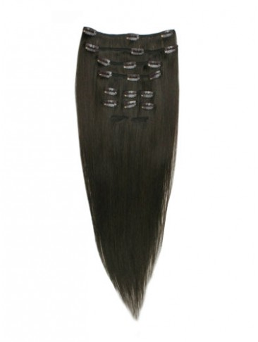 "10 pcs From 14"" Straight Clip In Full Head Set"