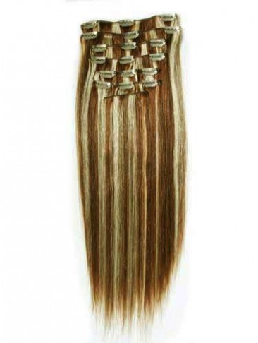 "10pcs From 14""(110g) Straight Clip In Full Head Set"