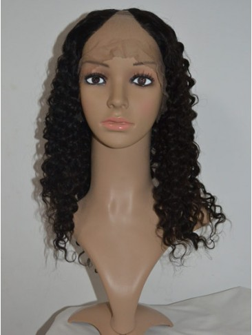 Tight Spiral Curls Remy Hair U Part Wig