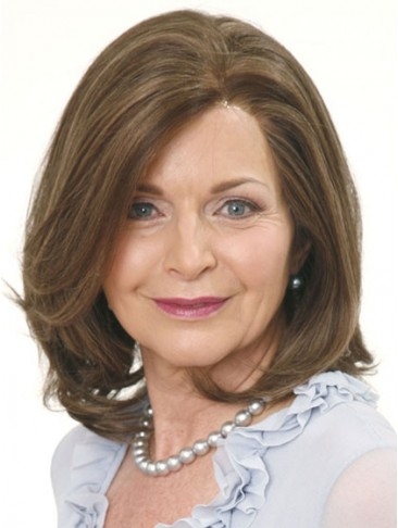 Mid-Length Hand-Tied Lace Front Human Hair Wig