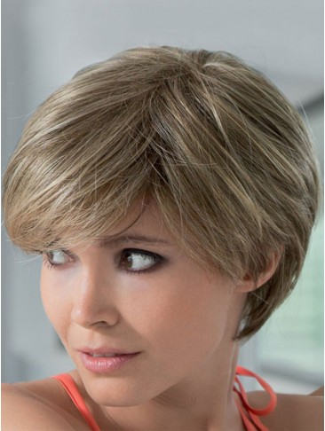 Short Silk Straight Lace Front Human Hair Wig
