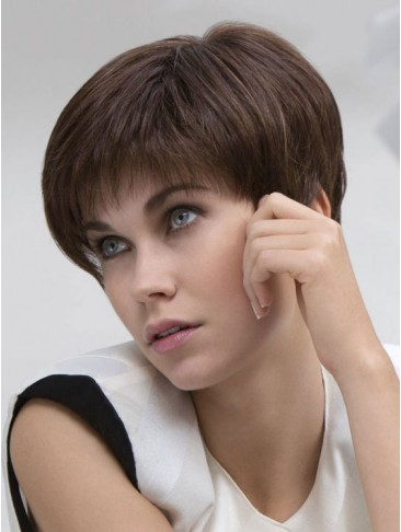 Short Layered Lace Front Award Human Hair Wig