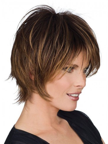 Medium Length Straight Human Hair Wig
