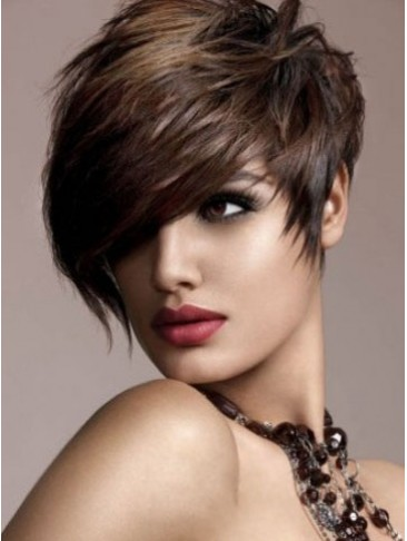 High Fashion Synthetic Short Straight Wig