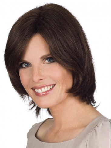 Remy Human Hair Lace Front Wig With Side Swept Fringe