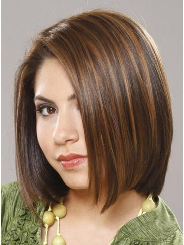 Smooth Soft Medium Straight Human Hair Wig