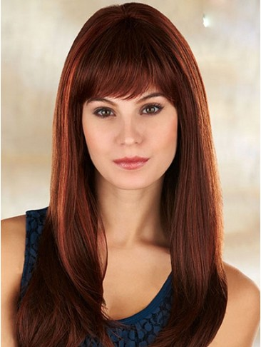 Soft Hot Sell New Long Straight Human Hair Wig