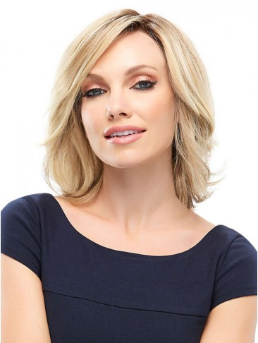 Chin Length Wavy Human Hair Wig