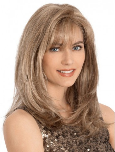 Textured Layering Natural Looking Human Hair Wig