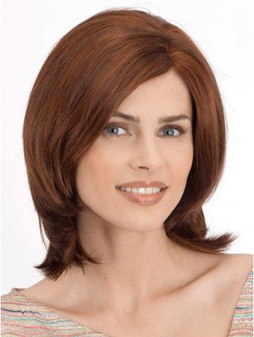 Light Layering Shoulder Length Smooth Human Hair Wig