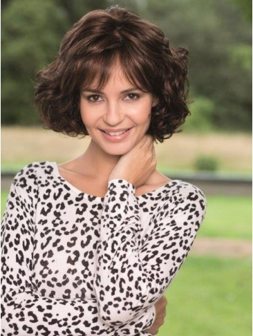 Bob Short Wavy Cut Human Hair Capless Wig