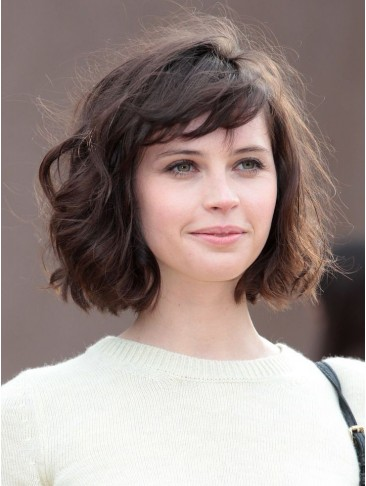 Lace Front Graceful Bob Hairstyle Straight Human Hair