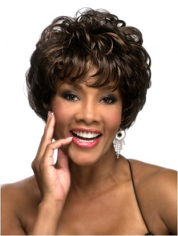 Short Wavy Full-layered Shag Wig