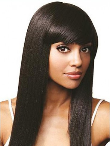 "16"" Silky Straight Remy Human Hair Lace Front Wig"