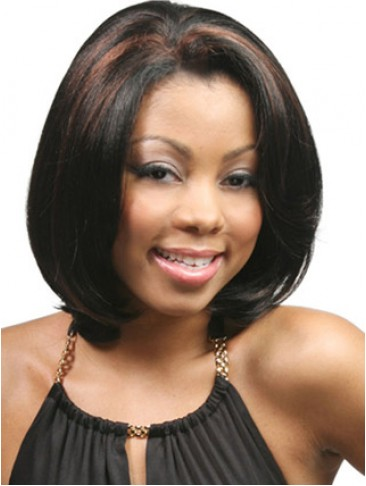 Full Layered Mid-Length Synthetic Lace Front Wig