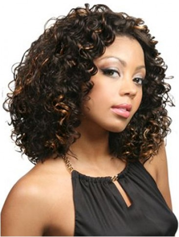 "14"" Wavy Lace Front Synthetic Wig"