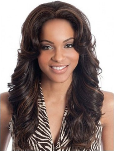 "22""  Wavy Lace Front Remy Human Hair Wig"