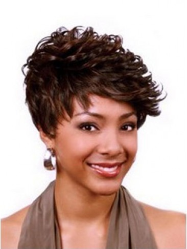 Short Synthetic Capless Wig