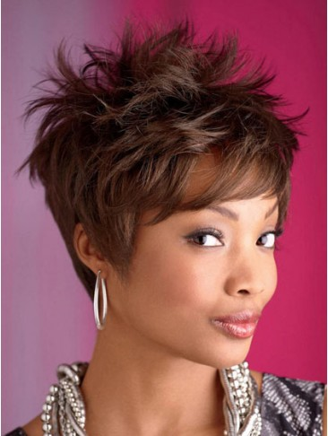 Trendy Semi-Spiky Dorie Synthetic Wig