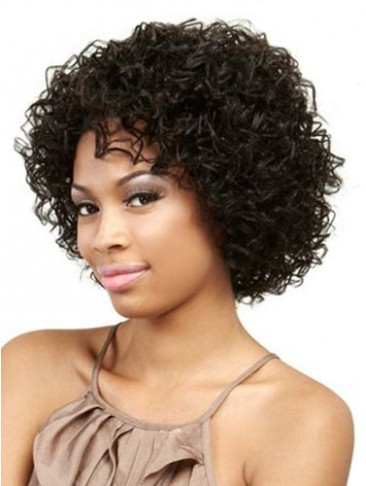 Muah 100% Remy Human Hair Curly Wig