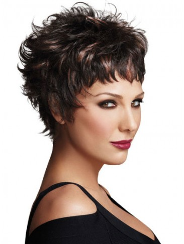 Short Sassy Easy Edge Synthetic Wig