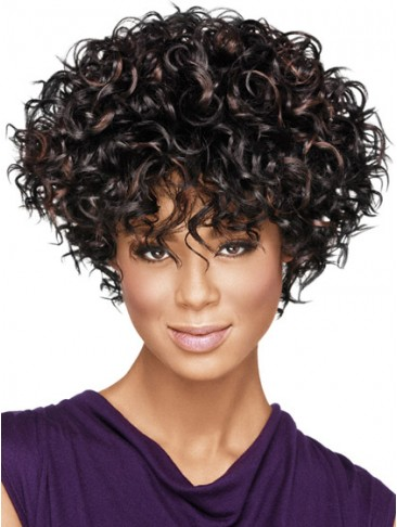 Full-On Curly Synthetic Capless Wig