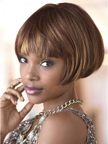 Blunt Fringe Bob Synthetic Capless Wig