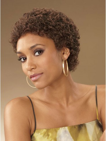 Classic Curly Short Synthetic Capless Wig