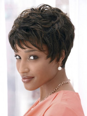 Dramatic Short Synthetic Wig