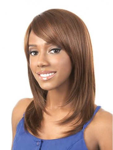 Natural Straight Long Synthetic Capless Wig