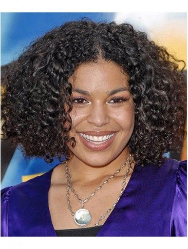 Medium Curly Synthetic Lace Front Wig