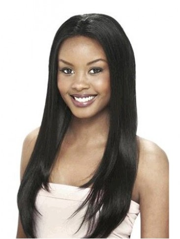 24 Inch Silky Straight Remy Human Hair Lace Front Wigs