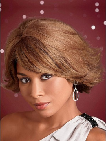 Fashion Short Straight Synthetic Capless Wig
