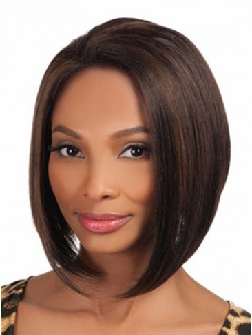 Short Straight Hairstyle Synthetic Wig