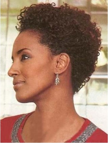 Popular Graceful Short Curly 100% Remy Human Hair