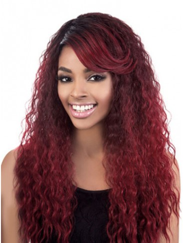 Extra Long Water Wavy Synthetic Wig For Black Women