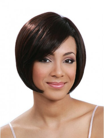Bob Style Human Hair Capless Wig For Black Women