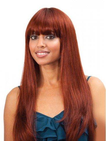 Extra Long Straight Synthetic Wig For Black Women