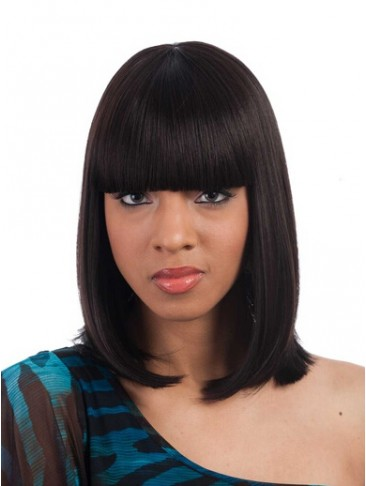 "14"" Layered Bob Style Full Bang Synthetic Wig"