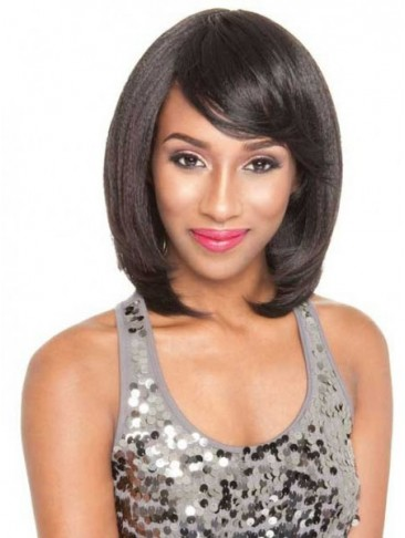 Sliky Medium Length Synthetic Capless Wig