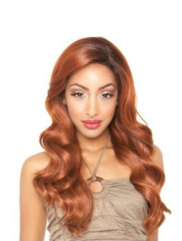 Long Human Hair Wavy Lace Front Wig