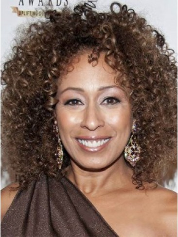 Personalized Short Curly Brown African American Lace Wigs for Women