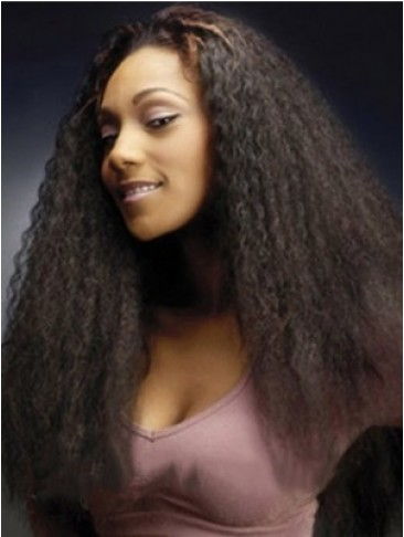 Quality Wigs Long Straight No Bang African American Lace Wigs for Women 22 Inch