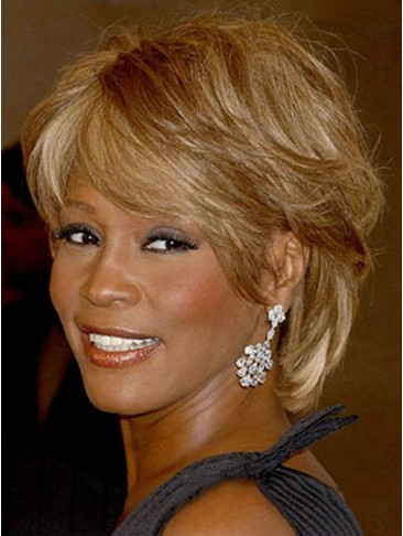 Sweety Short Wavy Blonde African American Lace Wigs
