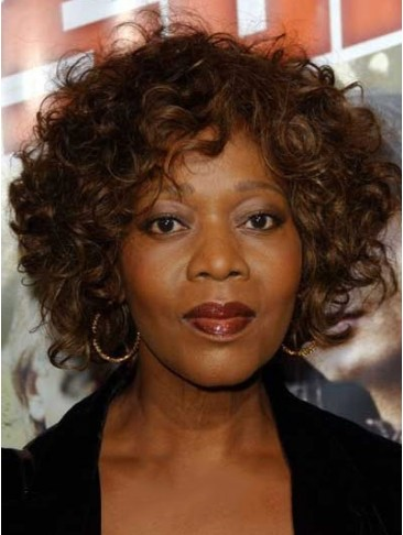 Glitter Short Curly African American Lace Front Wigs for Women 100% Human Hair