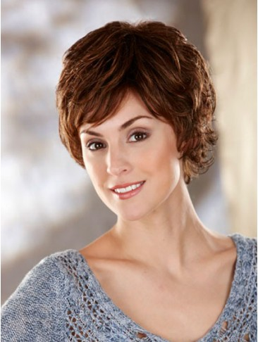 Loosely Waved Layers Short Synthetic Wig