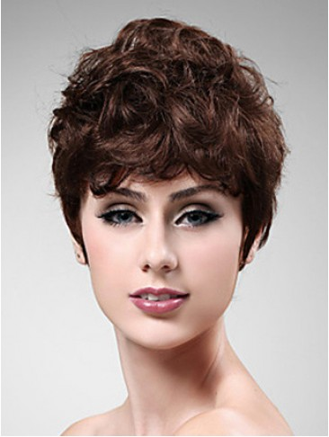 Capless Synthetic Wavy Short Wig