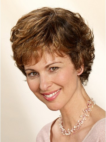 Short Synthetic Hair Capless Wig