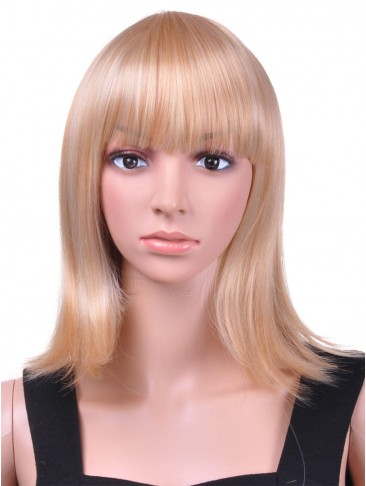 Medium Straight Capless Synthetic Hot Sell Wig