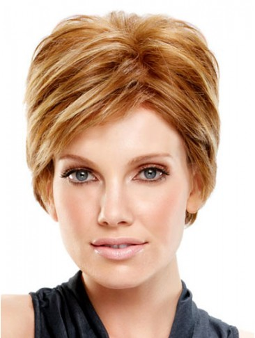 Short Straight Lace Front Synthetic Wig For Women